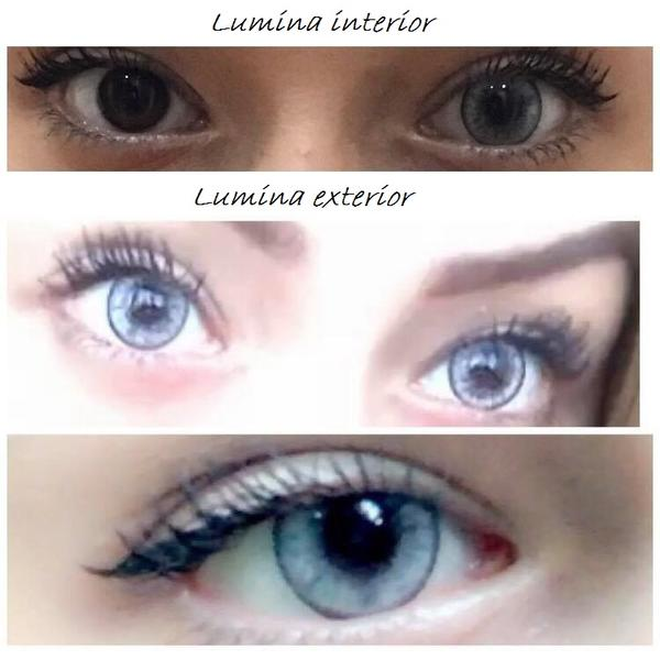 ColourVUE Lumina Bright Crystal - lentile de contact colorate gri trimestriale - 90 purtari (2 lentile/cutie)