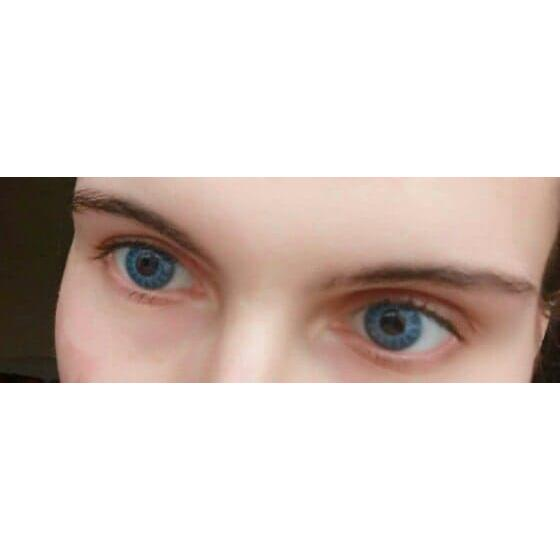 ColourVUE Crazy Solar Blue - lentile de contact colorate albastre anuale - 360 purtari (2 lentile/cutie)