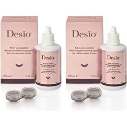 Solutie de curatare si intretinere lentile de contact Desio All In One 2 x 100 ml