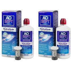 Alcon / Ciba Vision Solutie curatare lentile de contact AO Sept Plus 2 x 360 ml + suport lentile cadou