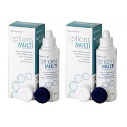 Cooper Vision Solutie intretinere lentile de contact Options Multi 2 x 100 ml + suport lentile cadou