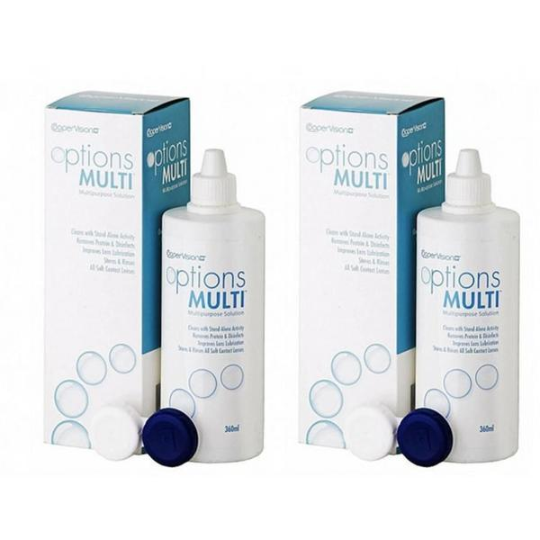 Cooper Vision Solutie intretinere lentile de contact Options Multi 2 x 360 ml + suport lentile cadou