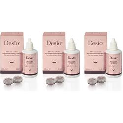 Solutie de curatare si intretinere lentile de contact Desio All In One 3 x 100 ml