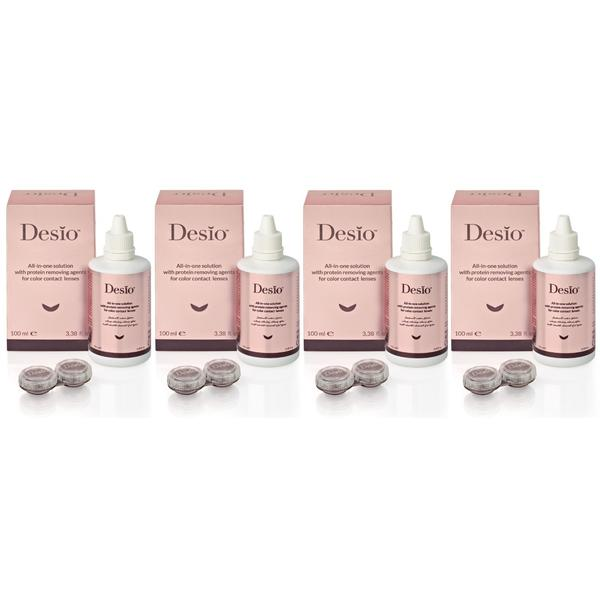 Solutie de curatare si intretinere lentile de contact Desio All In One 4 x 100 ml