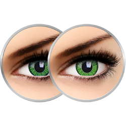 2 x Phantasee Vivid Green - lentile de contact colorate verzi trimestriale - 90 purtari (2 lentile/cutie)