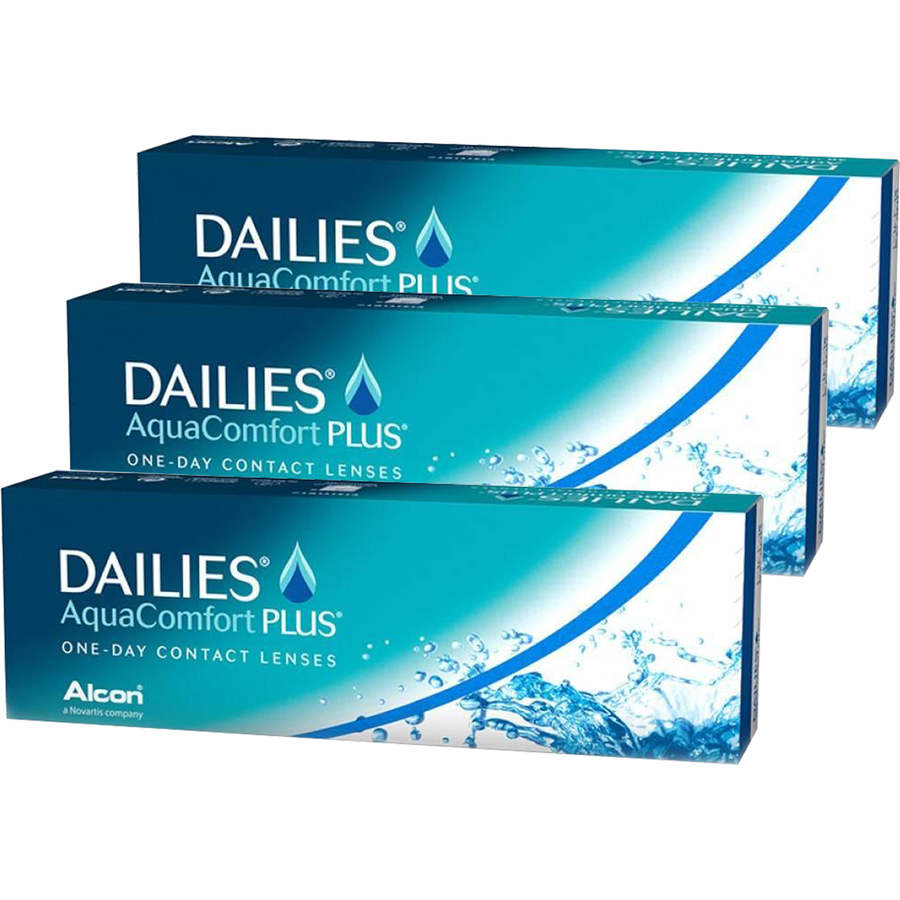 Alcon / Ciba Vision Dailies Aqua Comfort Plus unica folosinta 3 x 30 lentile imagine 2021