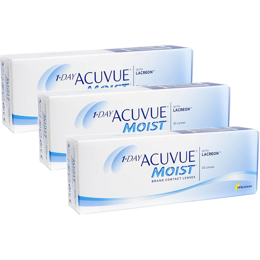 Johnson&Johnson 1 Day Acuvue Moist zilnice 3 x 30 lentile / cutie imagine 2021