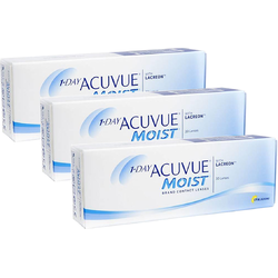 Johnson&Johnson 1 Day Acuvue Moist zilnice 3 x 30 lentile / cutie