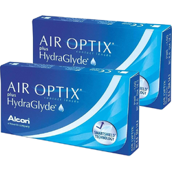 Lentile contact Air Optix plus HydraGlyde 2 x 6 lentile / cutie