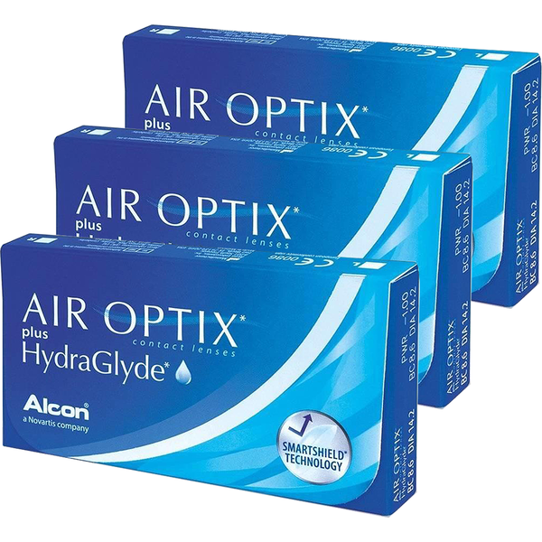 Alcon / Ciba Vision Lentile contact Air Optix plus HydraGlyde 3 x 6 lentile / cutie