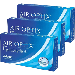 Lentile contact Air Optix plus HydraGlyde 3 x 6 lentile / cutie