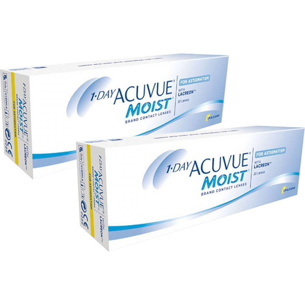 Johnson&Johnson 1 Day Acuvue Moist for Astigmatism zilnice 2 x 30 lentile / cutie