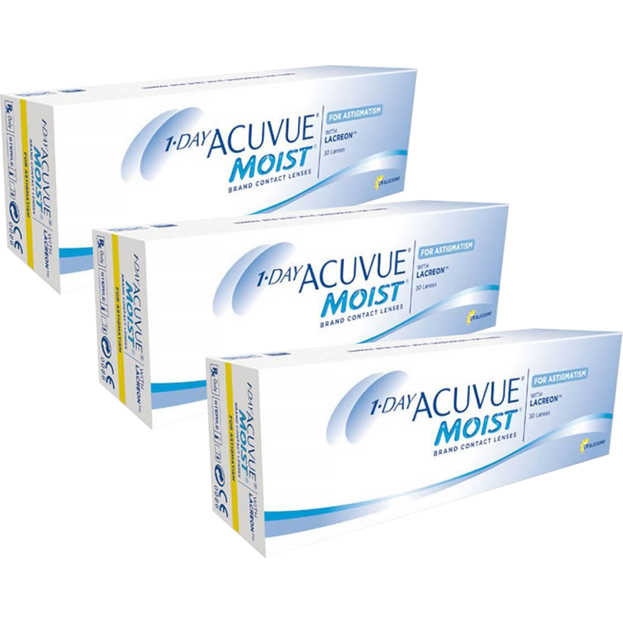 Johnson&Johnson 1 Day Acuvue Moist for Astigmatism zilnice 3 x 30 lentile / cutie imagine 2021