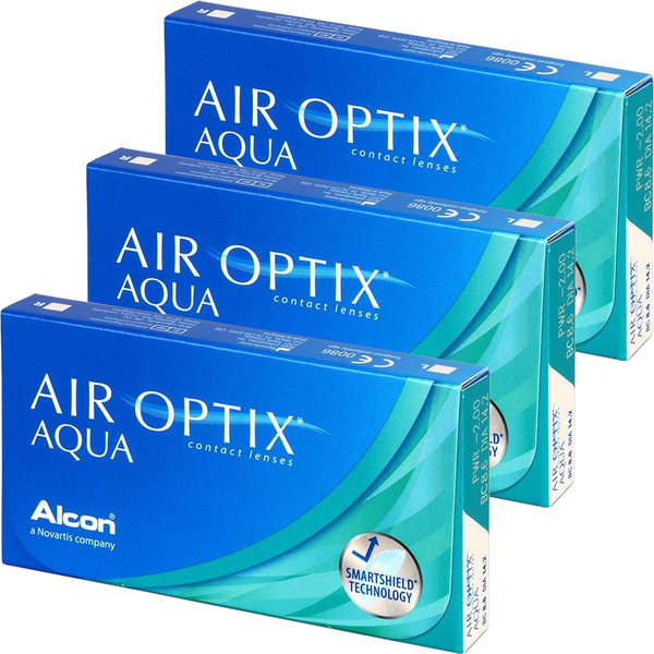 Alcon Alcon Air Optix Aqua lunare 3 x 6 lentile / cutie