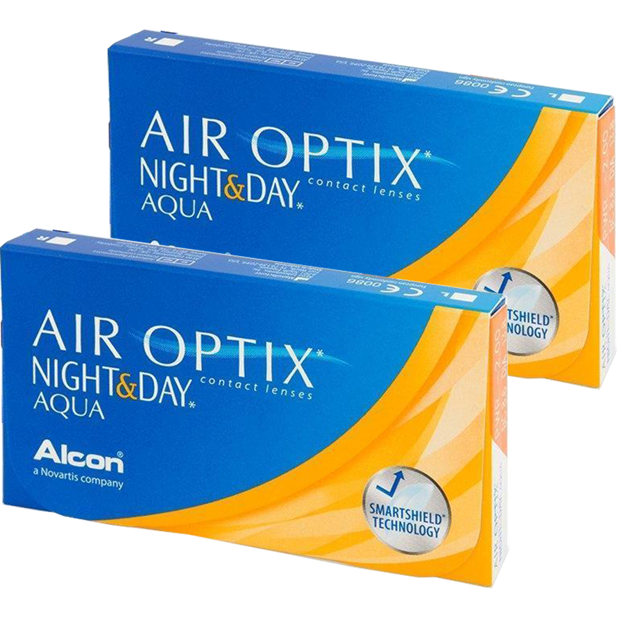 Alcon / Ciba Vision Air Optix Night & Day Aqua lunare 2 x 6 lentile / cutie
