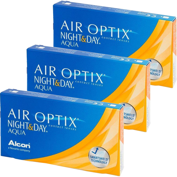 Alcon Alcon Air Optix Night & Day Aqua lunare 3 x 6 lentile / cutie
