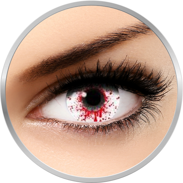 Fantaisie Splash Blood - lentile de contact Crazy pentru Halloween anuale - 365 purtari (2 lentile/cutie)