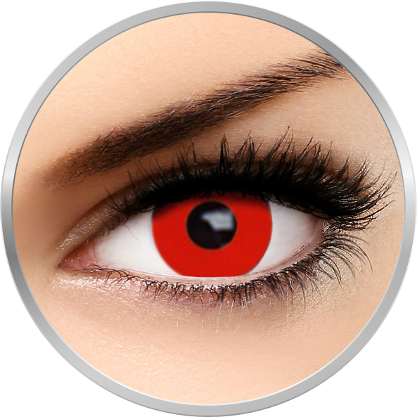 Fantaisie Red Out - lentile de contact Crazy pentru Halloween anuale - 365 purtari (2 lentile/cutie)