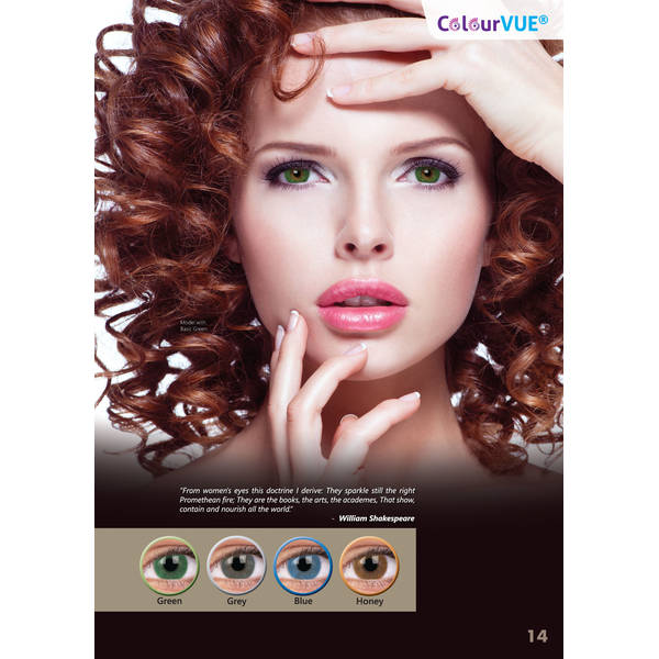 ColourVUE Basic Honey - lentile de contact colorate caprui trimestriale - 90 purtari (2 lentile/cutie)