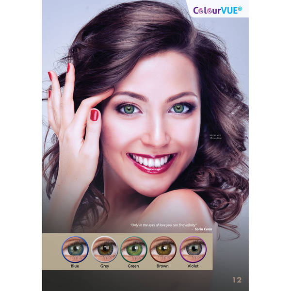 ColourVUE 3 Tones Blue - lentile de contact colorate albastre trimestriale - 90 purtari (2 lentile/cutie)