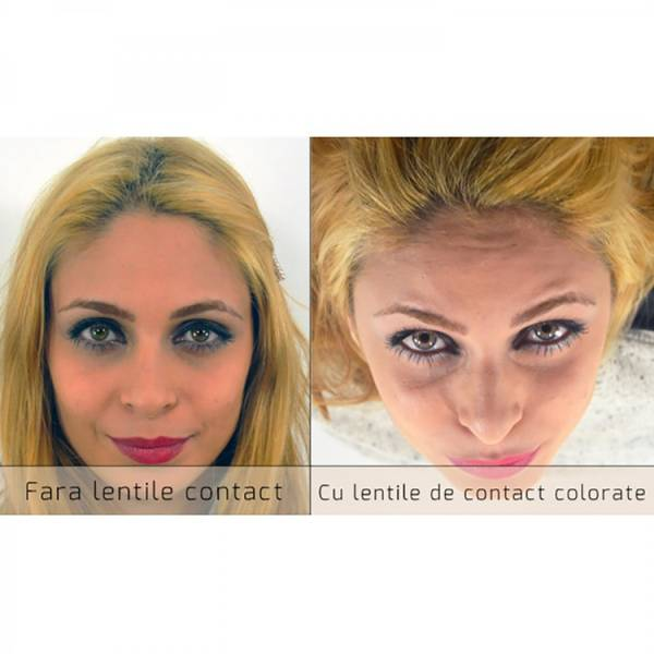 ColourVUE Glamour Grey - lentile de contact colorate gri trimestriale - 90 purtari (2 lentile/cutie)