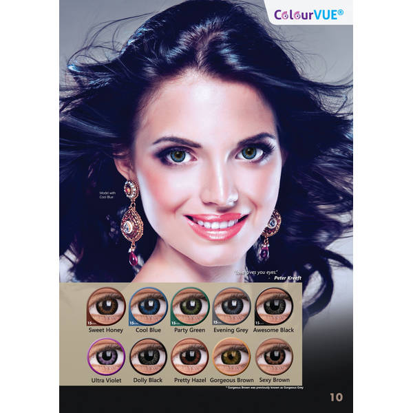 ColourVUE Big eyes Dolly Black - lentile de contact colorate negre trimestriale - 90 purtari (2 lentile/cutie)