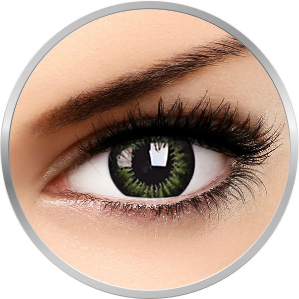 Big eyes Party Green - lentile de contact colorate verzi trimestriale - 90 purtari (2 lentile/cutie)