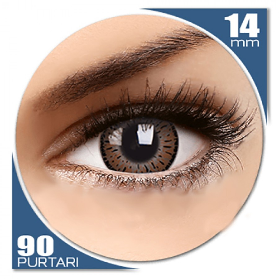 Elegance Brown – lentile de contact colorate caprui trimestriale – 90 purtari (2 lentile/cutie) de la ColourVUE