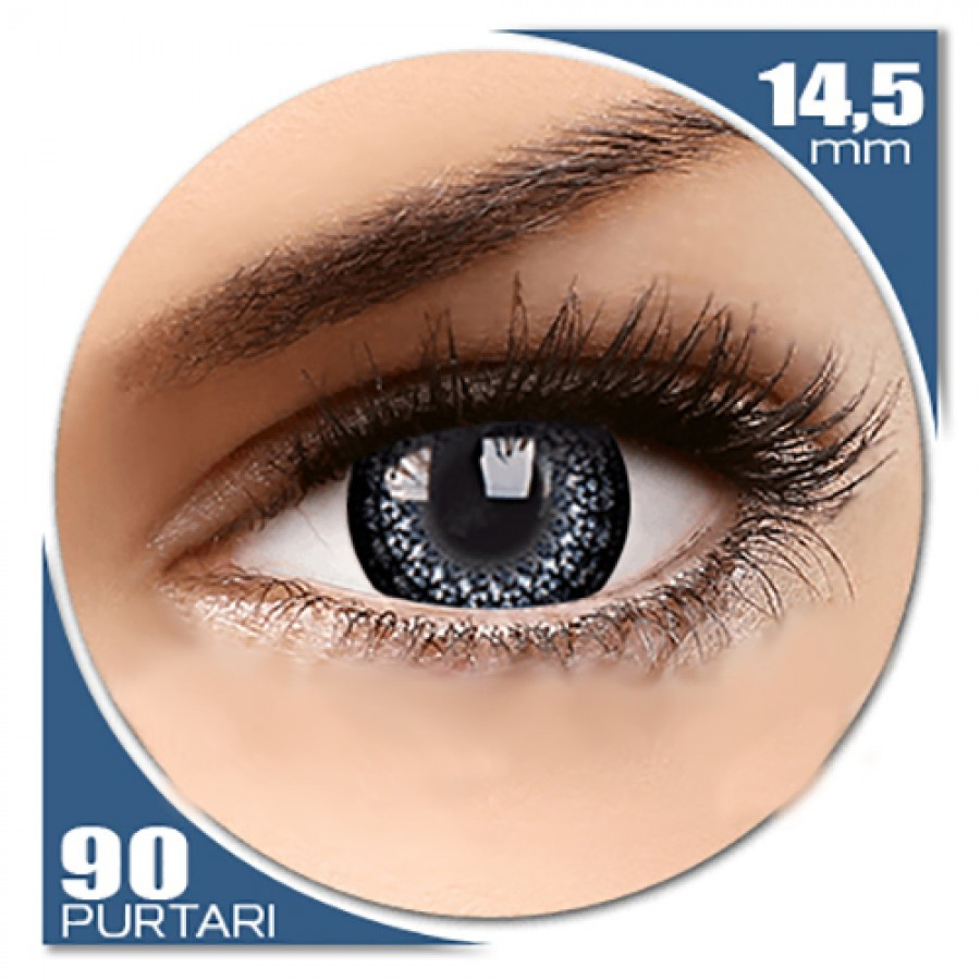 Eyelush Grey – lentile de contact colorate gri trimestriale – 90 purtari (2 lentile/cutie) de la ColourVUE