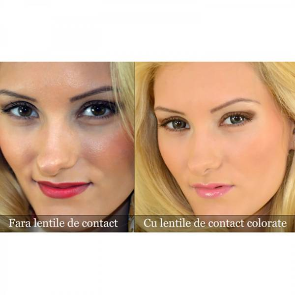 ColourVUE Eyelush Grey - lentile de contact colorate gri trimestriale - 90 purtari (2 lentile/cutie)