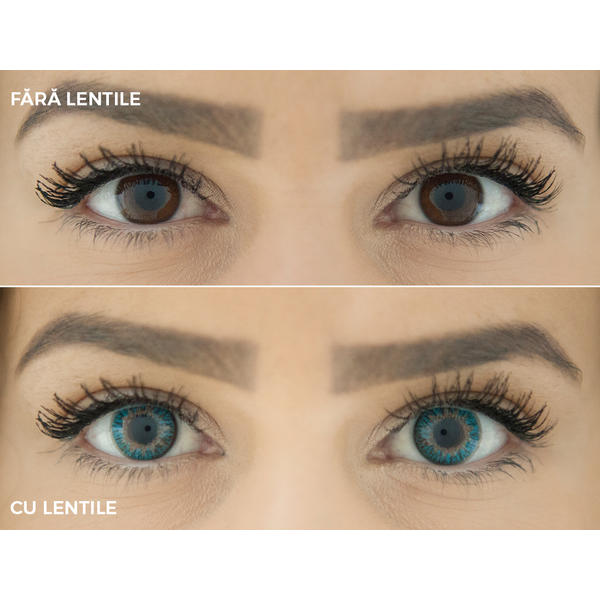 ColourVUE TruBlends Aqua - lentile de contact colorate albastre zilnice - (10 lentile/cutie)