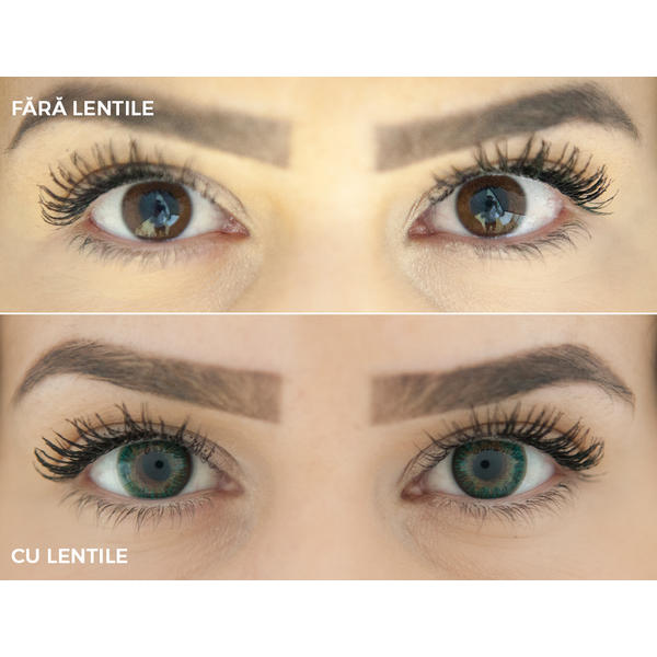 ColourVUE TruBlends Green - lentile de contact colorate verzi zilnice - (10 lentile/cutie)