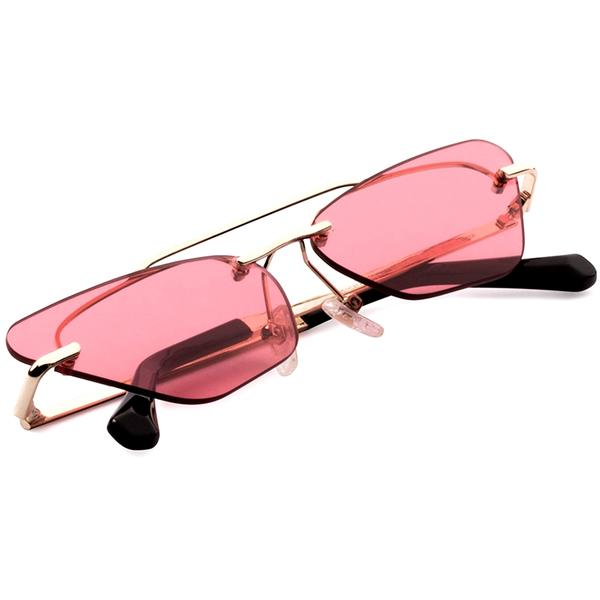 Ochelari de soare dama Hawkers H04FHM0648 Gold Light Red Little Paparazzi