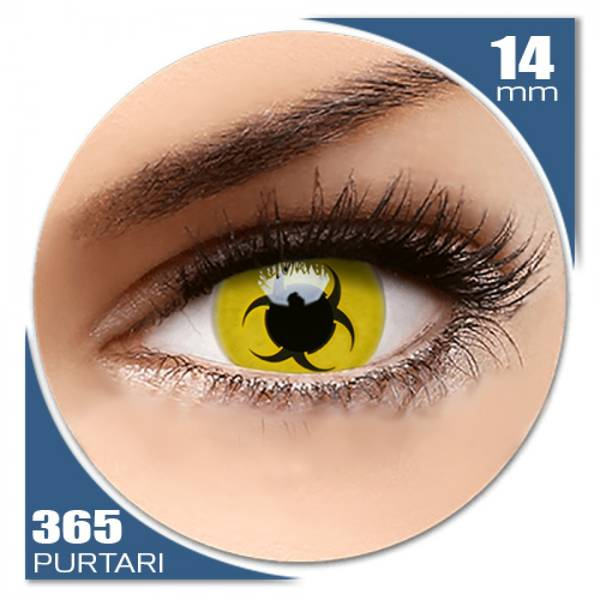 ColourVUE Crazy Bio Hazard - lentile de contact colorate galbene anuale - 360 purtari (2 lentile/cutie)