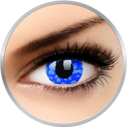 ColourVUE Crazy Blue Leopard - lentile de contact colorate albastre anuale - 360 purtari (2 lentile/cutie)