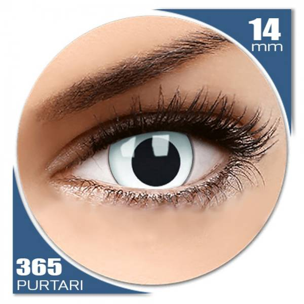 ColourVUE Crazy Cross Eyed - lentile de contact colorate albe anuale - 360 purtari (2 lentile/cutie)
