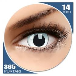 Crazy Cross Eyed - lentile de contact colorate albe anuale - 360 purtari (2 lentile/cutie)