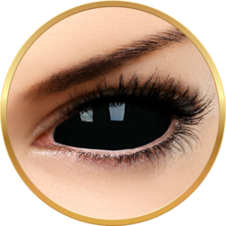 ColourVUE Sclera Sabretooth - lentile de contact colorate negre anuale - 185 purtari (2 lentile/cutie)