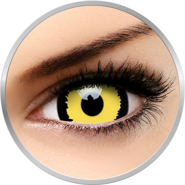 ColourVUE Crazy Tigera - lentile de contact colorate galbene anuale - 360 purtari (2 lentile/cutie)
