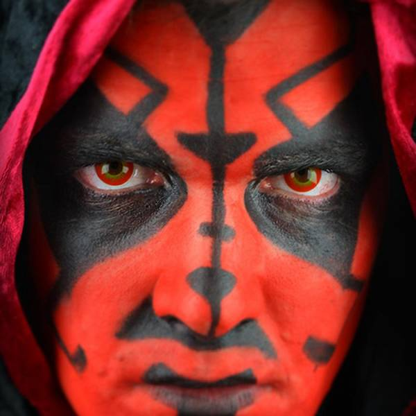 ColourVUE Crazy Darth Maul - lentile de contact colorate rosii anuale - 360 purtari (2 lentile/cutie)