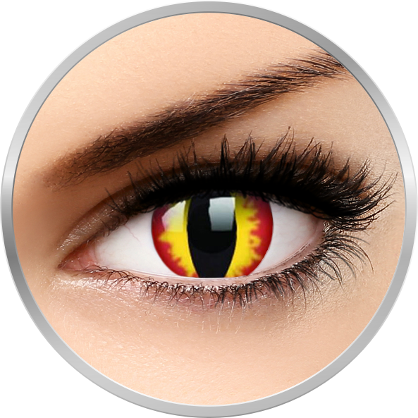 ColourVUE Crazy Dragon Eyes – lentile de contact colorate galbene anuale – 360 purtari (2 lentile/cutie)