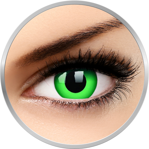 ColourVUE Crazy Emerald Green – lentile de contact colorate verzi anuale – 360 purtari (2 lentile/cutie)