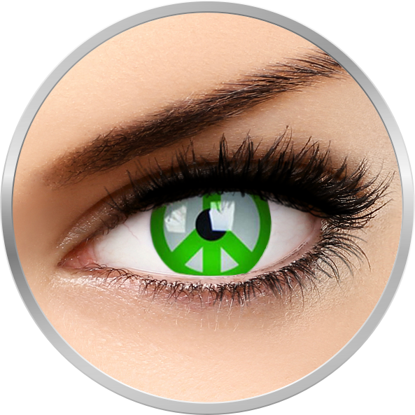 Crazy Green Peace – lentile de contact colorate verzi anuale – 360 purtari (2 lentile/cutie) de la ColourVUE