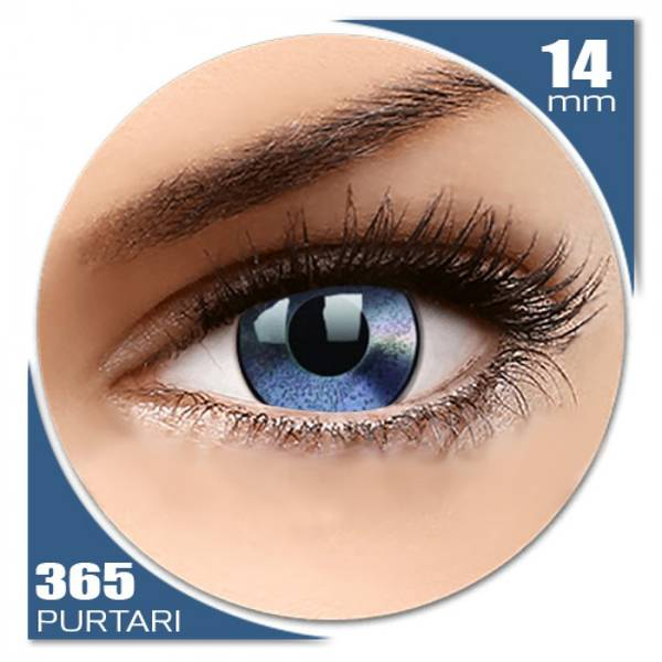 ColourVUE Crazy Mirror - lentile de contact colorate albastre anuale - 360 purtari (2 lentile/cutie)