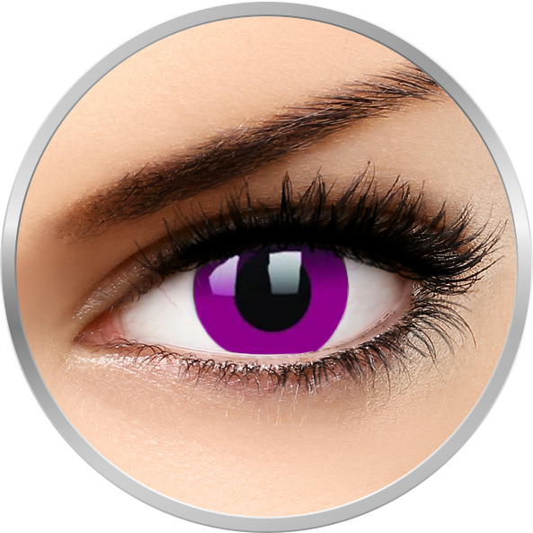 ColourVUE Crazy Purple – lentile de contact colorate violet anuale – 360 purtari (2 lentile/cutie)