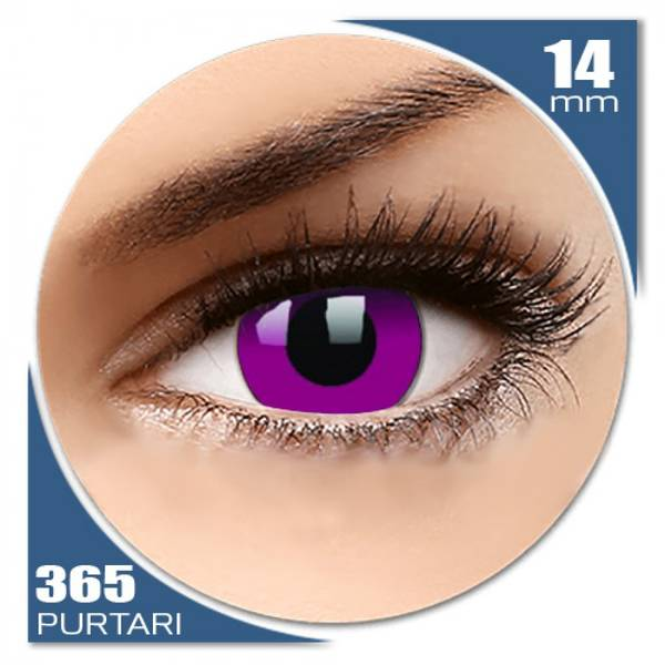 ColourVUE Crazy Purple - lentile de contact colorate violet anuale - 360 purtari (2 lentile/cutie)