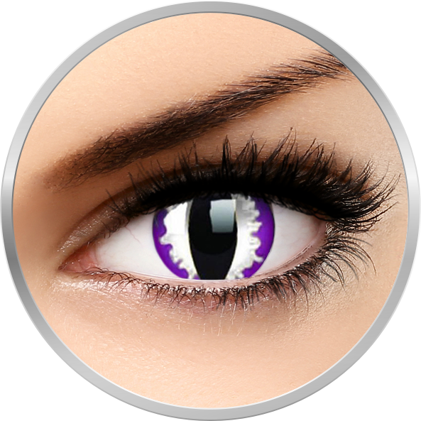 ColourVUE Crazy Purple Dragon – lentile de contact colorate violet anuale – 360 purtari (2 lentile/cutie)