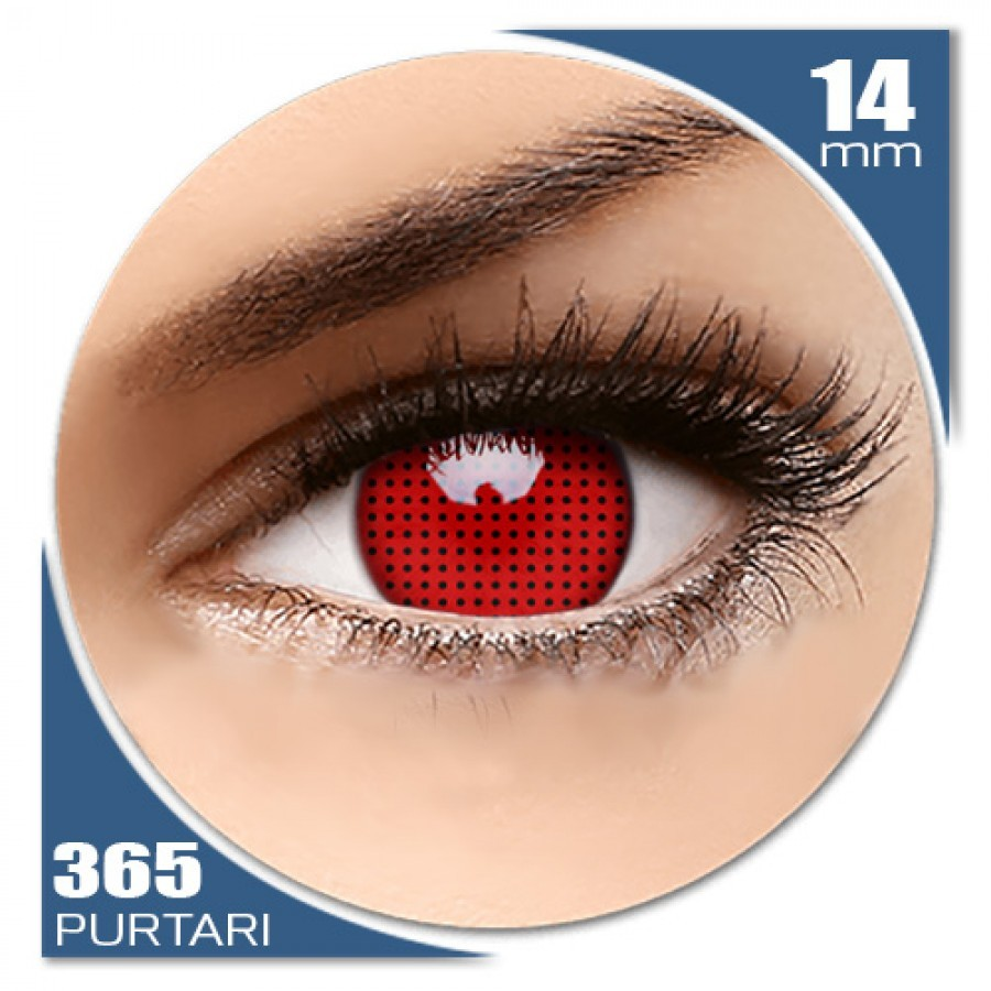 Crazy Red Screen – lentile de contact colorate rosii anuale – 360 purtari (2 lentile/cutie) de la ColourVUE