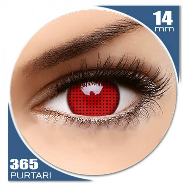 ColourVUE Crazy Red Screen - lentile de contact colorate rosii anuale - 360 purtari (2 lentile/cutie)