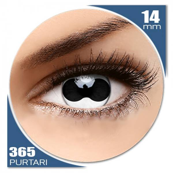 ColourVUE Crazy Split Eye - lentile de contact colorate albe anuale - 360 purtari (2 lentile/cutie)